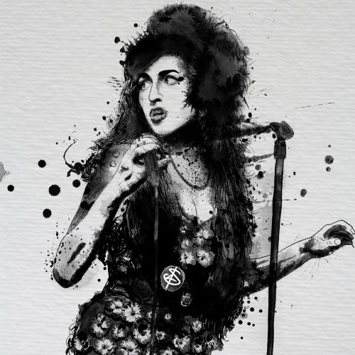 Ilustracion Winehouse - Blanchet