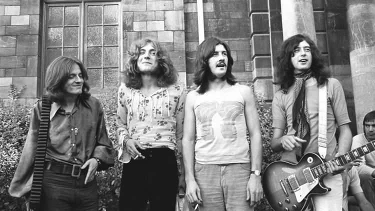 Led Zeppelin 1969 Bath Festival (John Paul Jones, Robert Plant, John Bonham, Jimmy Page) (Photo by Chris Walter/WireImage)