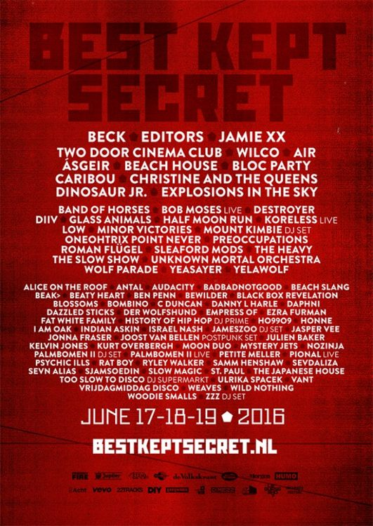 Best Kept Secret Festival lineup