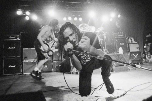 Vedder en una actuación en 1991. Fuente: © Neal Preston/Corbis