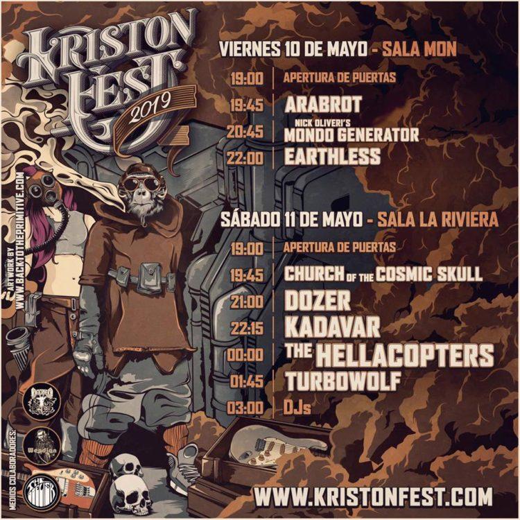 Horarios del Kristonfest 2019