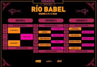 Rio Babel 2019 horarios