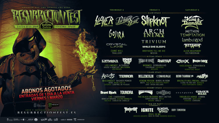 Cartel por días Resurrection Fest 2019