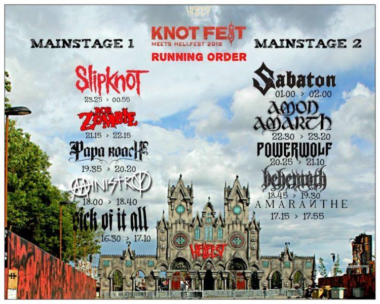 Horarios KnotFest HellFest 2019