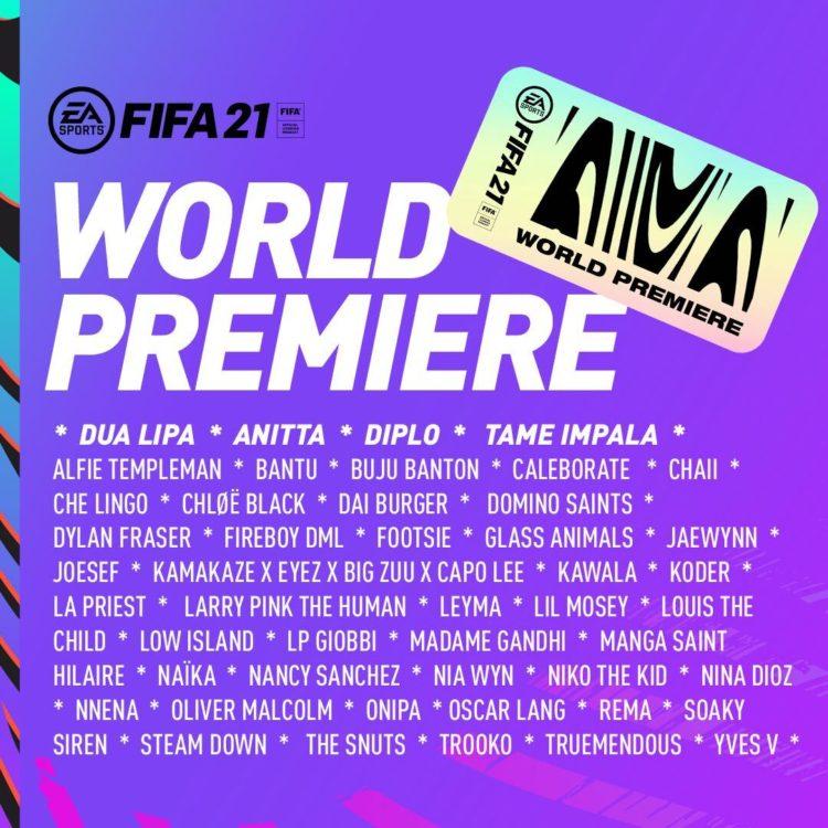 fifa 21 world premiere dua lipa tame impala